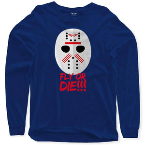 Fly - Hockey Mask Long Sleeve-MENS CLOTHING-FLY STREET LIFE-Navy-S-streetwear-from-FlyStreetLife