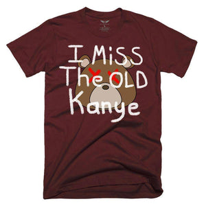 FLY - I Miss The Old Kanye Tee-MENS CLOTHING-FLY STREET LIFE-Burgundy-S-streetwear-from-FlyStreetLife