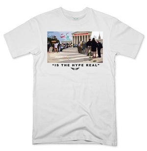 FLY - Is The Hype Real Tee-MENS CLOTHING-FLY STREET LIFE-White-S-streetwear-from-FlyStreetLife