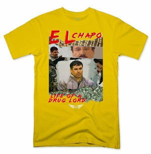 FLY - Life Of A Drug Lord Tee-MENS CLOTHING-FLY STREET LIFE-Yellow-S-streetwear-from-FlyStreetLife