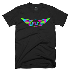 FLY - LOGO GREEN CAMO TEE-MENS CLOTHING-FLY STREET LIFE-Black-S-streetwear-from-FlyStreetLife