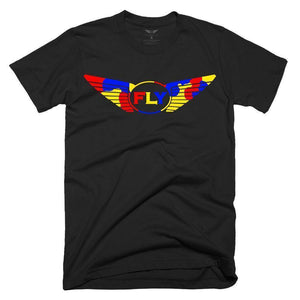 FLY - Logo Yellow Camo Tee-MENS CLOTHING-FLY STREET LIFE-Black-S-streetwear-from-FlyStreetLife
