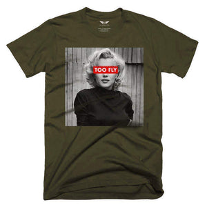FLY - Monroe Too Fly Tee-MENS CLOTHING-FLY STREET LIFE-Olive-S-streetwear-from-FlyStreetLife