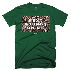 FLY - Next Rounds On Me Tee-MENS CLOTHING-FLY STREET LIFE-Military Green-S-streetwear-from-FlyStreetLife