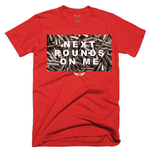 FLY - Next Rounds On Me Tee-MENS CLOTHING-FLY STREET LIFE-Red-S-streetwear-from-FlyStreetLife