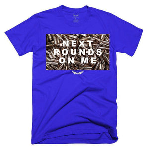 FLY - Next Rounds On Me Tee-MENS CLOTHING-FLY STREET LIFE-Royal Blue-S-streetwear-from-FlyStreetLife