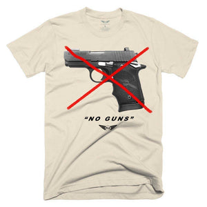 FLY - No Guns Tee-MENS CLOTHING-FLY STREET LIFE-Cream-S-streetwear-from-FlyStreetLife
