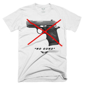 FLY - No Guns Tee-MENS CLOTHING-FLY STREET LIFE-White-S-streetwear-from-FlyStreetLife
