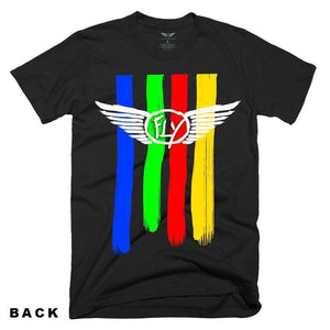 FLY - PAINTED STRIPE TEE-MENS CLOTHING-FLY STREET LIFE-streetwear-from-FlyStreetLife