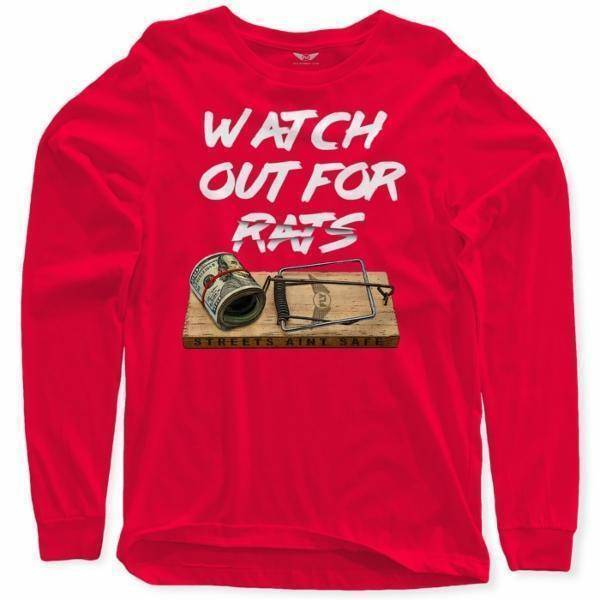 FLY - Rat Trap Long Sleeve-MENS CLOTHING-FLY STREET LIFE-Red-S-streetwear-from-FlyStreetLife