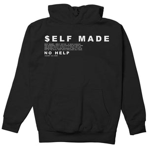 Fly - Self Made Definition Hoodie-MENS CLOTHING-FLY STREET LIFE-Black-S-streetwear-from-FlyStreetLife