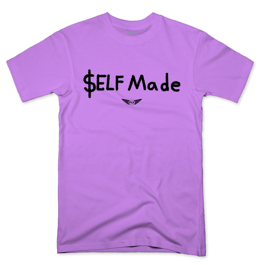 FLY - SELF MADE TEE-TEE-Fly Street Life-LIGHT PINK/BLACK-S-streetwear-from-FlyStreetLife