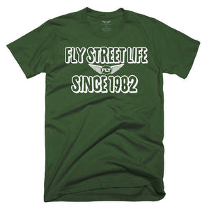 FLY - Since 1982 Tee-MENS CLOTHING-FLY STREET LIFE-Military Green-S-streetwear-from-FlyStreetLife