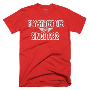FLY - Since 1982 Tee-MENS CLOTHING-FLY STREET LIFE-Red/White-S-streetwear-from-FlyStreetLife