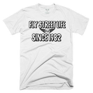 FLY - Since 1982 Tee-MENS CLOTHING-FLY STREET LIFE-White/Black-S-streetwear-from-FlyStreetLife