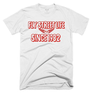FLY - Since 1982 Tee-MENS CLOTHING-FLY STREET LIFE-White/Red-S-streetwear-from-FlyStreetLife