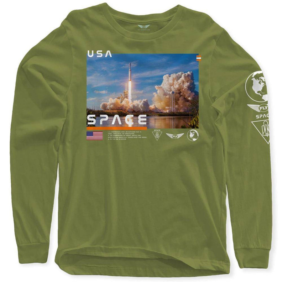 FLY - Space Launch Long Sleeve-MENS CLOTHING-FLY STREET LIFE-Black-S-streetwear-from-FlyStreetLife