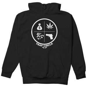 FLY - Trap Circle Hoodie-MENS CLOTHING-FLY STREET LIFE-Black-S-streetwear-from-FlyStreetLife