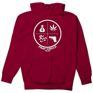 FLY - Trap Circle Hoodie-MENS CLOTHING-FLY STREET LIFE-Burgundy-S-streetwear-from-FlyStreetLife