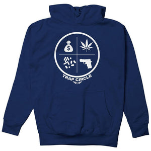 FLY - Trap Circle Hoodie-MENS CLOTHING-FLY STREET LIFE-Navy-S-streetwear-from-FlyStreetLife