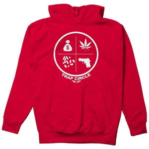 FLY - Trap Circle Hoodie-MENS CLOTHING-FLY STREET LIFE-Red-S-streetwear-from-FlyStreetLife