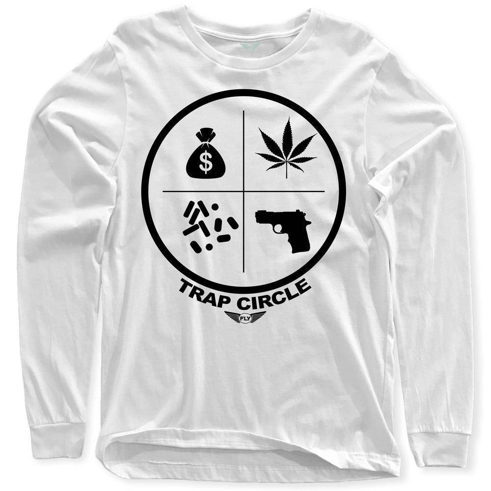 FLY - Trap Circle Long Sleeve-MENS CLOTHING-FLY STREET LIFE-White-S-streetwear-from-FlyStreetLife
