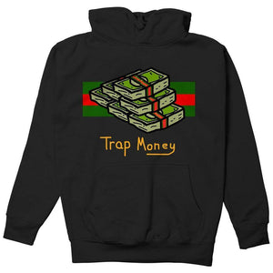 FLY - Trap Money Hoodie-MENS CLOTHING-FLY STREET LIFE-Black-S-streetwear-from-FlyStreetLife