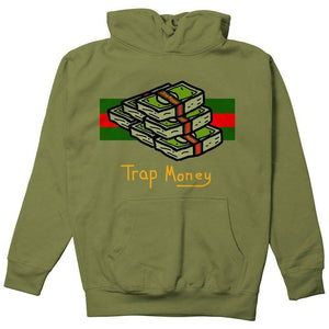 FLY - Trap Money Hoodie-MENS CLOTHING-FLY STREET LIFE-Military Green-S-streetwear-from-FlyStreetLife