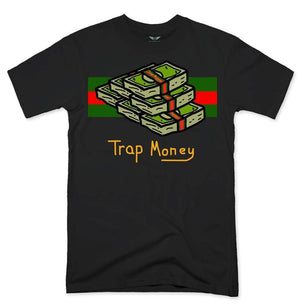 FLY - Trap Money Tee-MENS CLOTHING-FLY STREET LIFE-Black-S-streetwear-from-FlyStreetLife