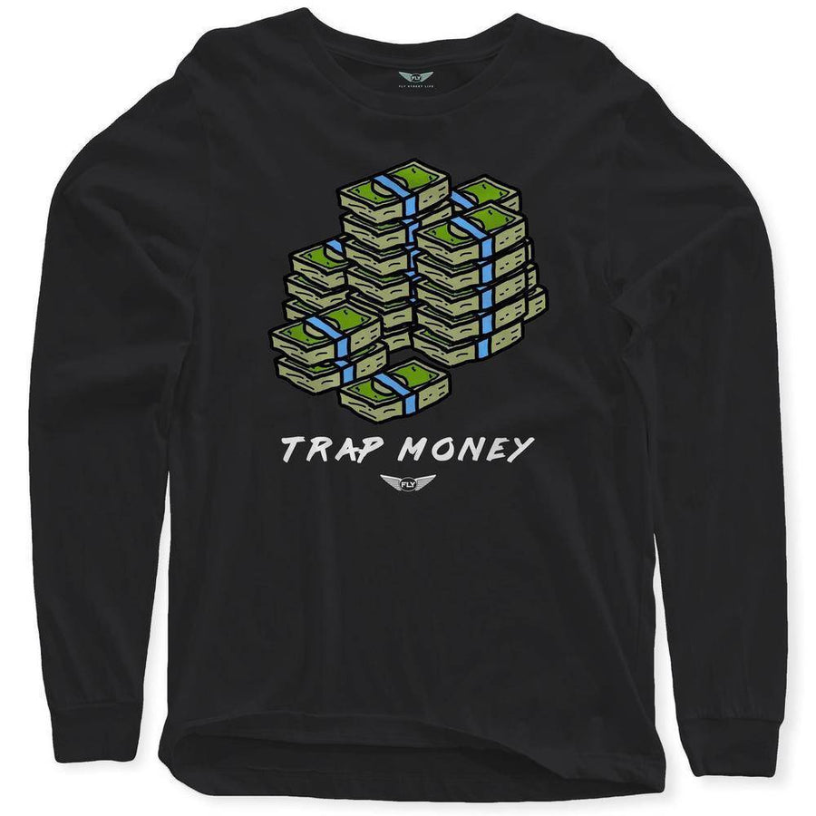 FLY - Trap Money V2 Long Sleeve-MENS CLOTHING-FLY STREET LIFE-Burgundy-S-streetwear-from-FlyStreetLife