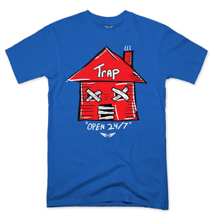 FLY - Trap Red Open 24/7 Tee-TEE-FLY STREET LIFE-ROYAL BLUE-S-streetwear-from-FlyStreetLife