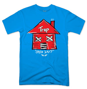 FLY - Trap Red Open 24/7 Tee-TEE-FLY STREET LIFE-TURQUOISE-S-streetwear-from-FlyStreetLife