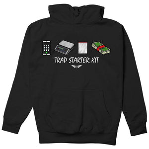 FLY - Trap Starter Kit Hoodie-MENS CLOTHING-FLY STREET LIFE-Black-S-streetwear-from-FlyStreetLife
