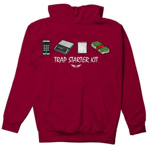 FLY - Trap Starter Kit Hoodie-MENS CLOTHING-FLY STREET LIFE-Burgundy-S-streetwear-from-FlyStreetLife