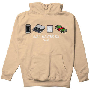 FLY - Trap Starter Kit Hoodie-MENS CLOTHING-FLY STREET LIFE-Khaki-S-streetwear-from-FlyStreetLife