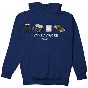 FLY - Trap Starter Kit Hoodie-MENS CLOTHING-FLY STREET LIFE-Navy-S-streetwear-from-FlyStreetLife