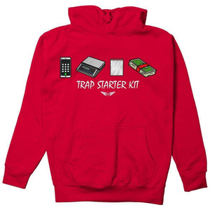 FLY - Trap Starter Kit Hoodie-MENS CLOTHING-FLY STREET LIFE-Red-S-streetwear-from-FlyStreetLife