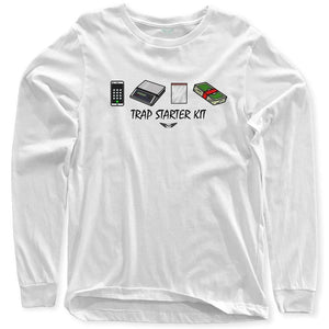 FLY - Trap Starter Kit Long Sleeve-MENS CLOTHING-FLY STREET LIFE-White-S-streetwear-from-FlyStreetLife