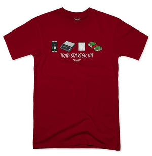 FLY - Trap Starter Kit Tee-MENS CLOTHING-FLY STREET LIFE-Burgundy-S-streetwear-from-FlyStreetLife