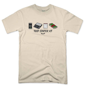 FLY - Trap Starter Kit Tee-MENS CLOTHING-FLY STREET LIFE-Cream-S-streetwear-from-FlyStreetLife