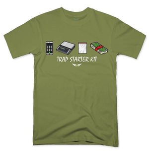 FLY - Trap Starter Kit Tee-MENS CLOTHING-FLY STREET LIFE-Military Green-S-streetwear-from-FlyStreetLife