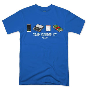 FLY - Trap Starter Kit Tee-MENS CLOTHING-FLY STREET LIFE-Royal Blue-S-streetwear-from-FlyStreetLife