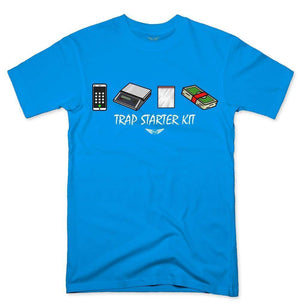 FLY - Trap Starter Kit Tee-MENS CLOTHING-FLY STREET LIFE-Turquoise-S-streetwear-from-FlyStreetLife