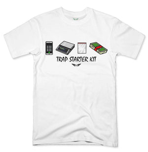 FLY - Trap Starter Kit Tee-MENS CLOTHING-FLY STREET LIFE-White-S-streetwear-from-FlyStreetLife