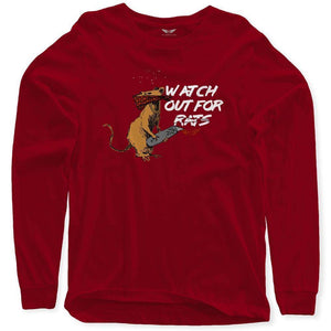 FLY - Watch Out For Rats Long Sleeve-MENS CLOTHING-FLY STREET LIFE-Burgundy-S-streetwear-from-FlyStreetLife