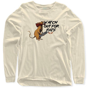 FLY - Watch Out For Rats Long Sleeve-MENS CLOTHING-FLY STREET LIFE-Cream-S-streetwear-from-FlyStreetLife