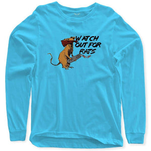 FLY - Watch Out For Rats Long Sleeve-MENS CLOTHING-FLY STREET LIFE-Light Blue-S-streetwear-from-FlyStreetLife