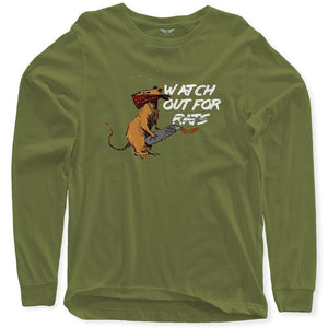 FLY - Watch Out For Rats Long Sleeve-MENS CLOTHING-FLY STREET LIFE-Military Green-S-streetwear-from-FlyStreetLife