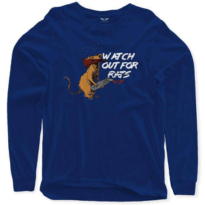 FLY - Watch Out For Rats Long Sleeve-MENS CLOTHING-FLY STREET LIFE-Navy-S-streetwear-from-FlyStreetLife