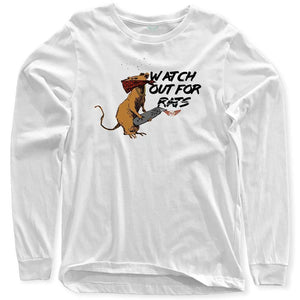 FLY - Watch Out For Rats Long Sleeve-MENS CLOTHING-FLY STREET LIFE-White-S-streetwear-from-FlyStreetLife